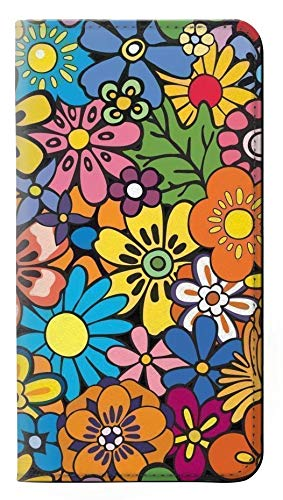 Colorful Hippie Flowers Pattern PU Leather Flip Case Cover For Samsung Galaxy J3 (2016) from Innovedesire
