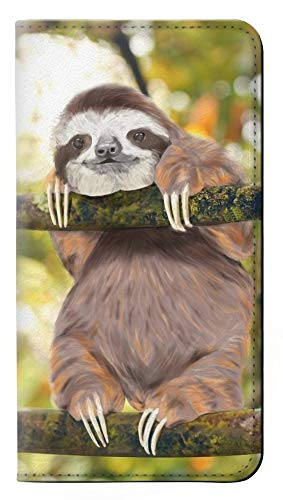 Cute Baby Sloth Paint PU Leather Flip Case Cover For Google Pixel 2 from Innovedesire