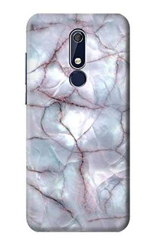 Dark Blue Marble Texture Graphic Print Case Cover For Nokia 5.1, Nokia 5 2018 from Innovedesire