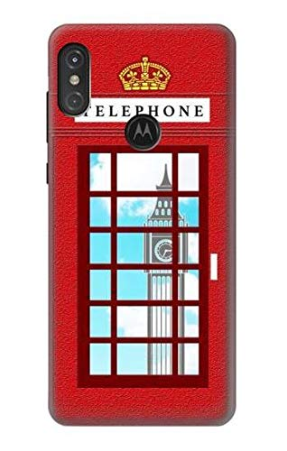 England Classic British Telephone Box Minimalist Case Cover For Motorola One Power, Moto P30 Note from Innovedesire