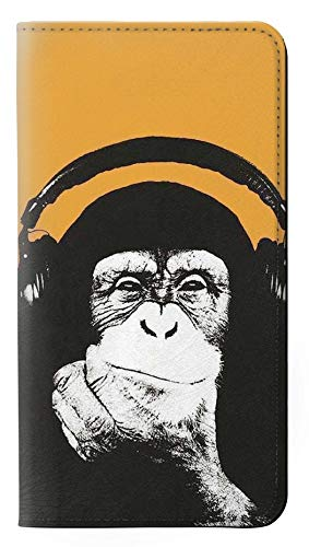 Funny Monkey with Headphone Pop Music PU Leather Flip Case Cover For Samsung Galaxy S8 from Innovedesire