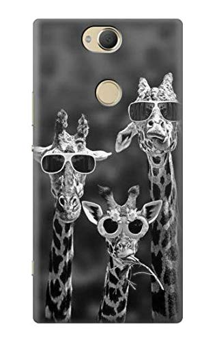 Giraffes With Sunglasses Case Cover For Sony Xperia XA2 Plus from Innovedesire
