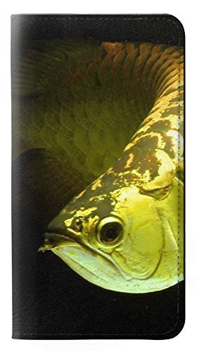 Gold Arowana Fish PU Leather Flip Case Cover For Huawei P20 Lite from Innovedesire