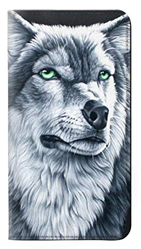 Grim White Wolf PU Leather Flip Case Cover For Huawei P20 from Innovedesire