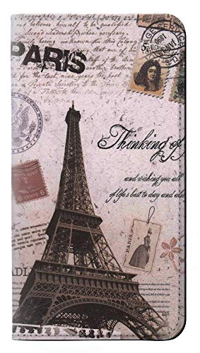 Paris Postcard Eiffel Tower PU Leather Flip Case Cover For Samsung Galaxy S8 from Innovedesire