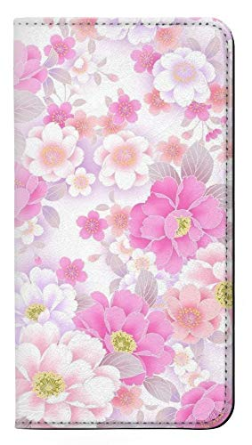 Pink Sweet Flower Flora PU Leather Flip Case Cover For Huawei P20 Lite from Innovedesire