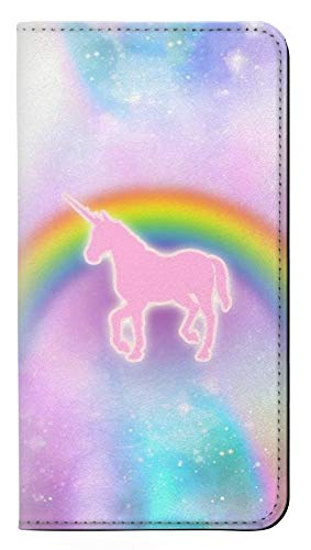 Rainbow Unicorn Pastel Sky PU Leather Flip Case Cover For LG G7 ThinQ from Innovedesire
