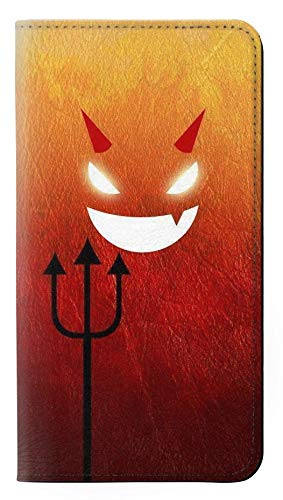 Red Cute Little Devil Cartoon PU Leather Flip Case Cover For Google Pixel 2 from Innovedesire