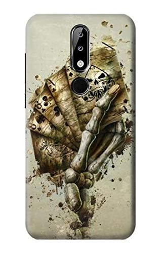 Skull Card Poker Case Cover For Nokia X5, Nokia 5.1 Plus from Innovedesire