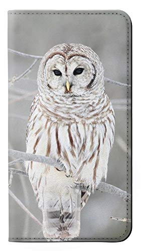 Snowy Owl White Owl PU Leather Flip Case Cover For Motorola Moto G6 Play, Moto G6 Forge, Moto E5 from Innovedesire