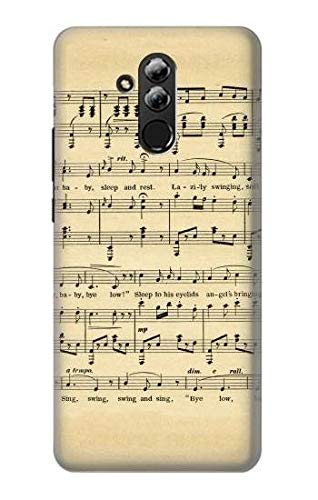 Vintage Music Sheet Case Cover For Huawei Mate 20 lite from Innovedesire
