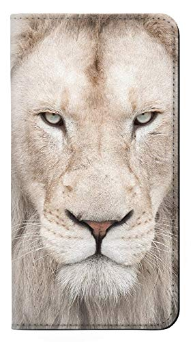 White Lion Face PU Leather Flip Case Cover For LG V30, LG V30 Plus, LG V30S ThinQ, LG V35, LG V35 ThinQ from Innovedesire