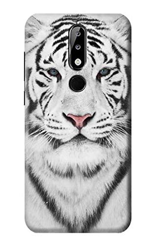 White Tiger Case Cover For Nokia X5, Nokia 5.1 Plus from Innovedesire