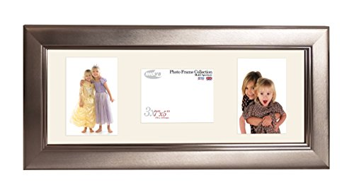 Inov8 British Made Picture/Photo Frame, Brushed Large Pewter Triple App 7x5 x 2P/1L Inch, Pack of 2 from Inov8 Framing