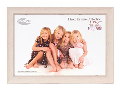 Inov8 British Made Traditional Picture/Photo Frame, 12x8-inch, Small Washed White from Inov8 Framing