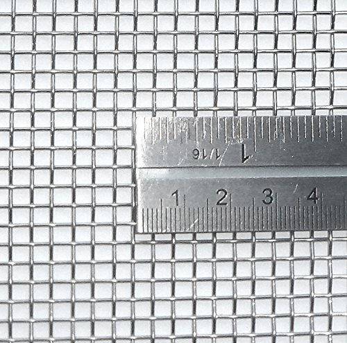 3.3mm Hole Size - Stainless Steel 304L - Cut Size: 15cm x 15cm - 6 Mesh Count - Woven Wire Mesh - By Inoxia from Inoxia Wire Mesh