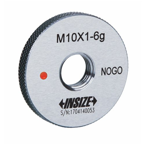 INSIZE 4129-5GN Fine Thread Ring Gage, Class 6g, NOGO, ISO1502, M5 x 0.5 mm from Insize