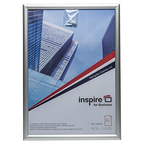 Hampton Frames SNAP Poster Certificate Photo Display Snap Frame Silver A2 (42x59cm) SNAPA2S from The Photo Album Company