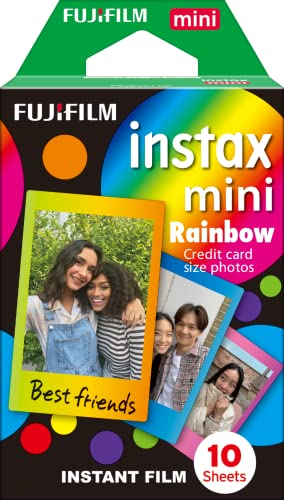 Instax Rainbow mini film, 10 shot pack - Rainbow from instax