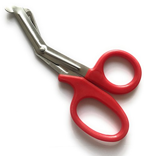INSGB® - Tuff Cut Scissors Tough Shears First Aid Nurse Paramedic Emergency EMT (small, Red) from Instruments GB®
