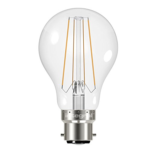 Integral LED Non-Dimmable Clear Filament Wide Beam Angle GLS Classic Globe Bulb (B22 Bayonet 6.2 W LED, 2700 k, 470 lm) from Integral