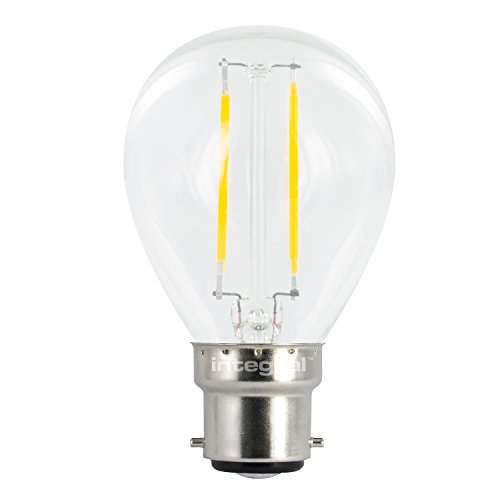 Integral LED Non-Dimmable Wide Beam Angle Golfball Mini Globe Bulb (B22 Bayonet, 2 W LED, 2700 k, 250 lm) - Warm White from Integral