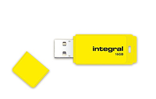 Integral TS-180564 Neon 2.0 USB Flash Drive, 16GB, Yellow from Integral