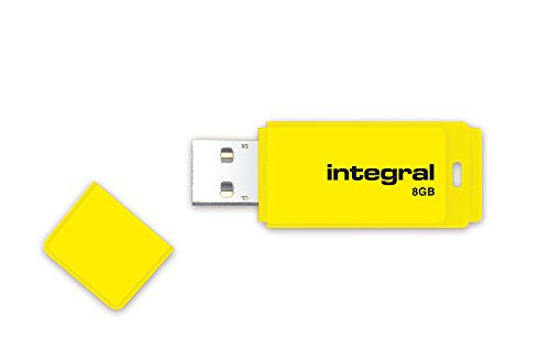Integral Neon 8 GB USB 2.0 Flash Drive - Yellow from Integral