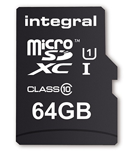 Integral Memory UltimaPro 64 GB MicroSDXC Class 10 Memory Card up to 40 MB/s, U1 Rating, Black from Integral