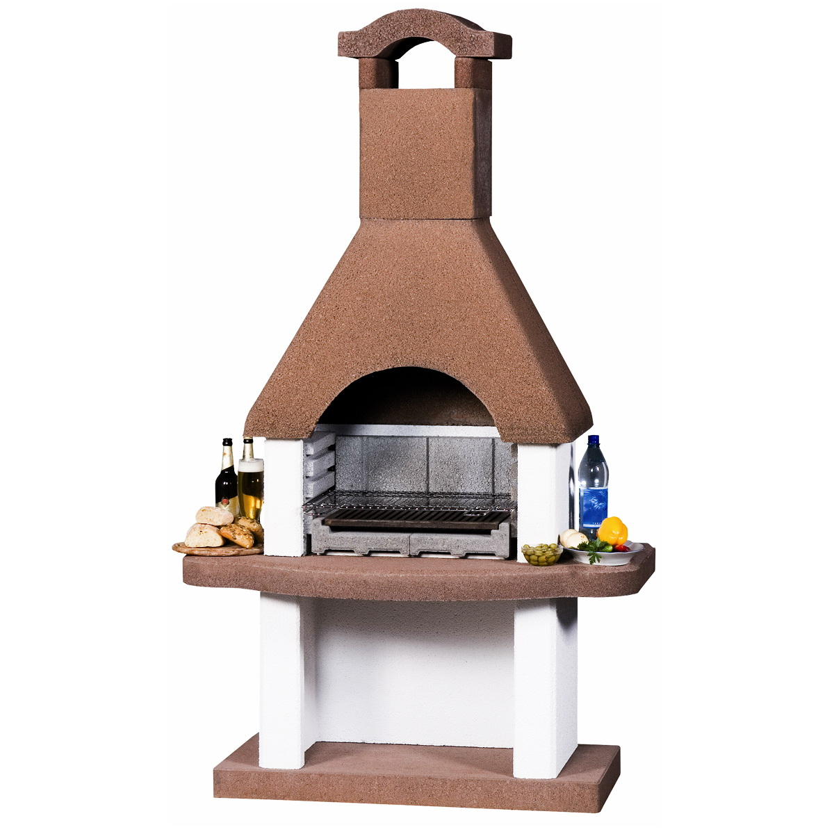 Barbecue masonry 200x120cm / 430kgs from Intergard