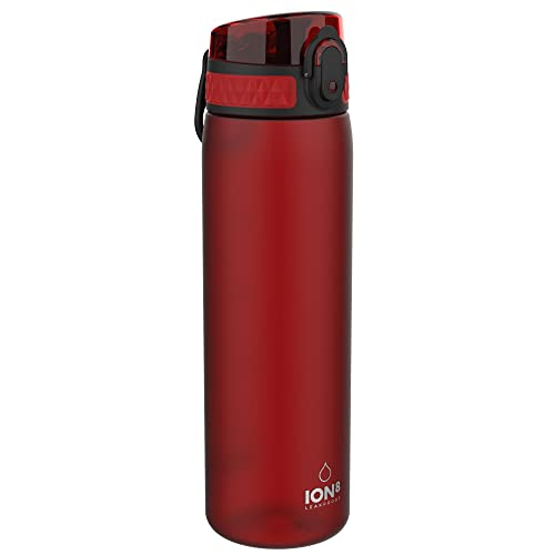 ion8 Unisex Slim Leak Proof BPA Free Water Bottle, Frosted Chilli Red, 500 ml from Ion8