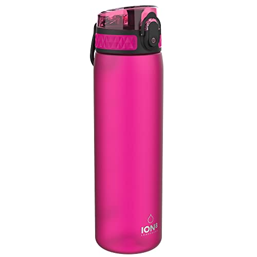 Ion8 Unisex Leak Proof Slim Water Bottle, Frosted Pink, 500 ml from Ion8