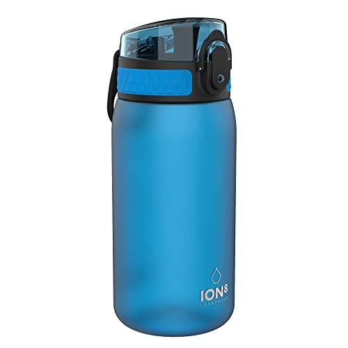 Ion8 Leak Proof Kids Water Bottle, BPA Free, 350ml / 12oz, Frosted Blue from Ion8