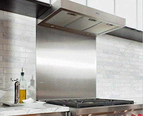 Satin Stainless Steel Splashback Guard Plate 800 mm x 600 mm from Ironmongery Now