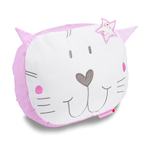 Izziwotnot Baby Fleur Cat Cushion from Izziwotnot
