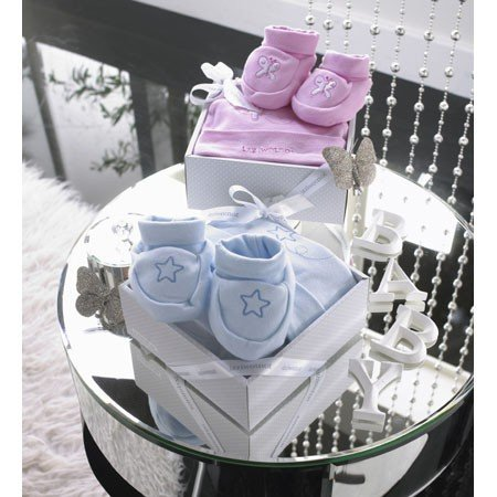 Izziwotnot Delight 2 Piece Luxury Baby Gift Box Set, Forget-Me-Not Blue, 9 - 12 Months from Izziwotnot
