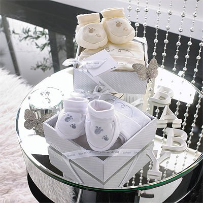 Izziwotnot Delight 2 Piece Luxury Baby Gift Box Set, Lily White, 6-9 Months from Izziwotnot