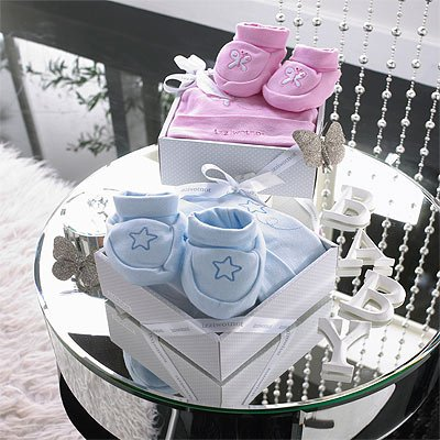 Izziwotnot Delight 2 Piece Luxury Baby Gift Box Set, Rose, 9 - 12 Months from Izziwotnot