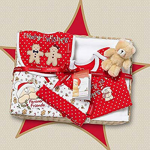 Izziwotnot Forever Friends Gingerbread Christmas Baby Gift Basket, 0-3 Months from Izziwotnot