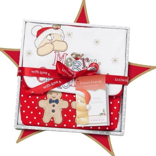 Izziwotnot Forever Friends Snowflake Christmas Baby Gift Box, 3 - 6 Months from Izziwotnot