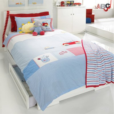 Izziwotnot Humphrey's Corner Little Red Car Duvet Cover & Pillow Case Set, Single from Izziwotnot