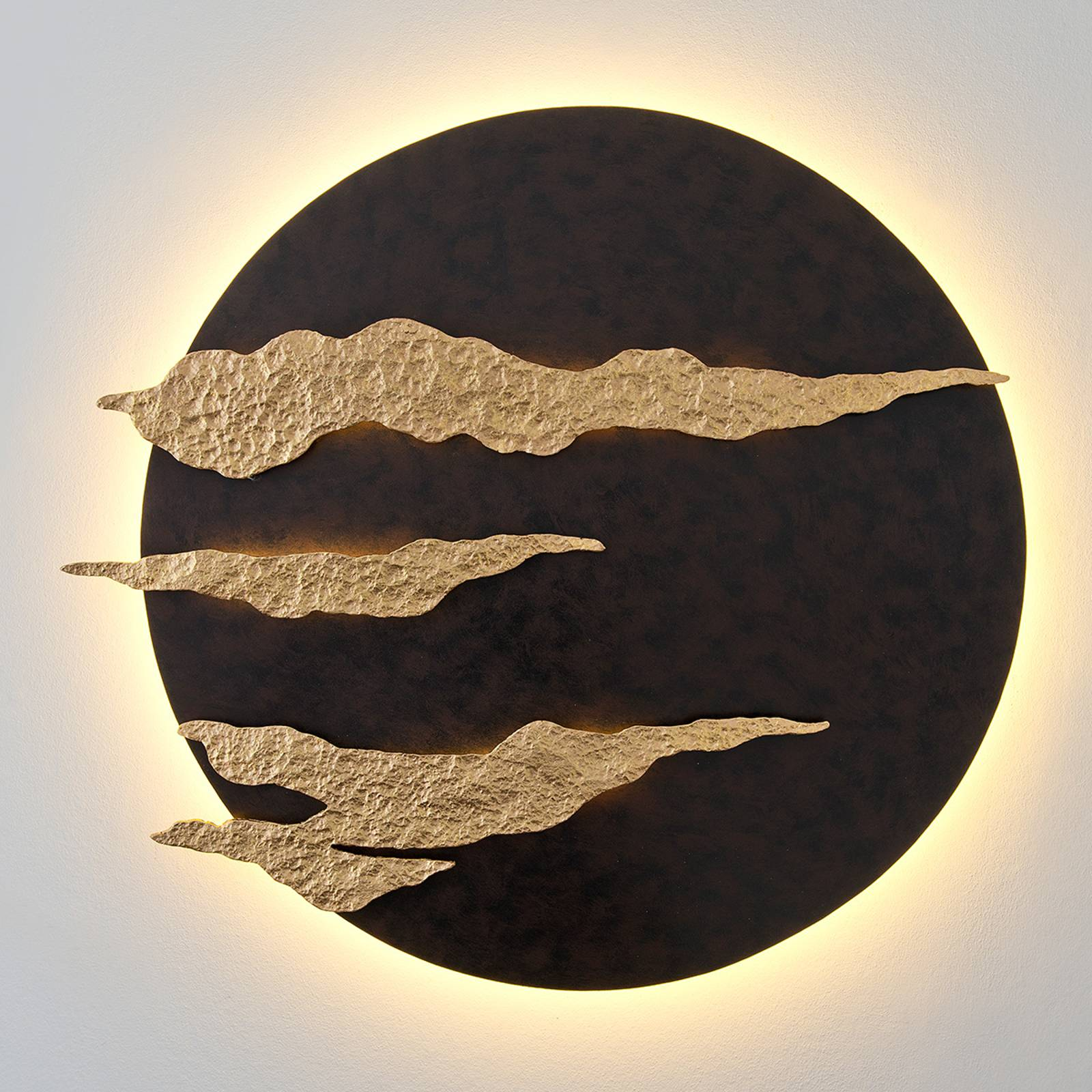 Firmamento - black and gold LED wall lamp from J. Holländer