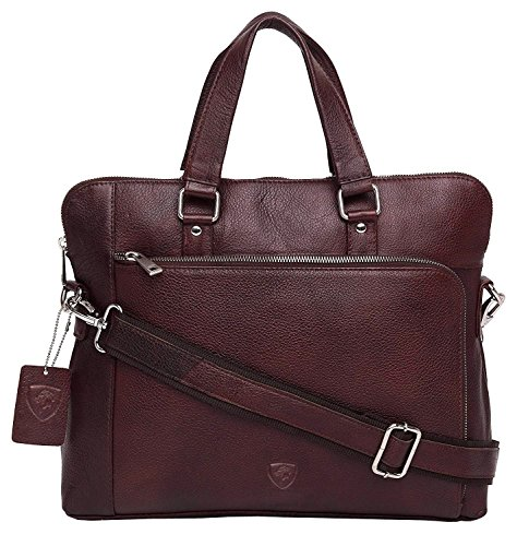 "J WILSON London - Designer Genuine Real Nappa Leather 15"" Laptop Handmade Unisex Crossover Everyday Crossover Work iPad Shoulder Messenger Briefcase Bag from J. Wilson London"