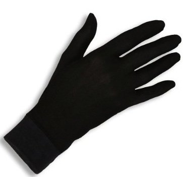 Jasmine Silk Pure Silk Gloves Thermal Liner Glove Inner Ski Bike Cycle Gloves (Large) 100gsm from JASMINE SILK
