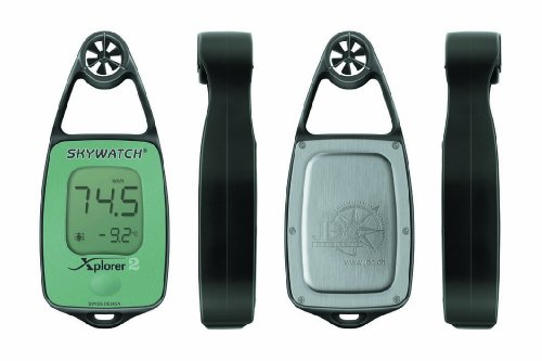 JDC Electronics Skywatch Xplorer 2 Wind and Temperature Meter - Green from JDC Electronics