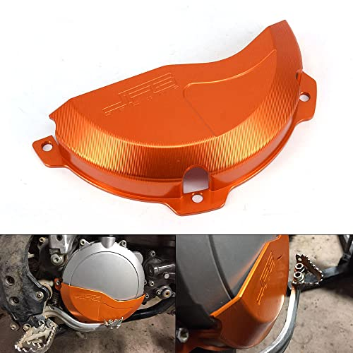 JFG RACING Aluminum Billet Orange Engine Case Clutch Cover Guard Protector For K.T.M EXC 250 EXC 300 09-16, 250SX 09-15 from JFG RACING