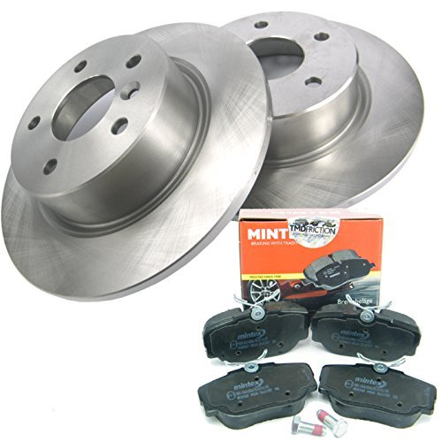 Land Rover Discovery 2 TD5 Rear Brake Discs + MINTEX Brake Pad Kit (98-04)- D2RRBRAKES from JGS 4x4
