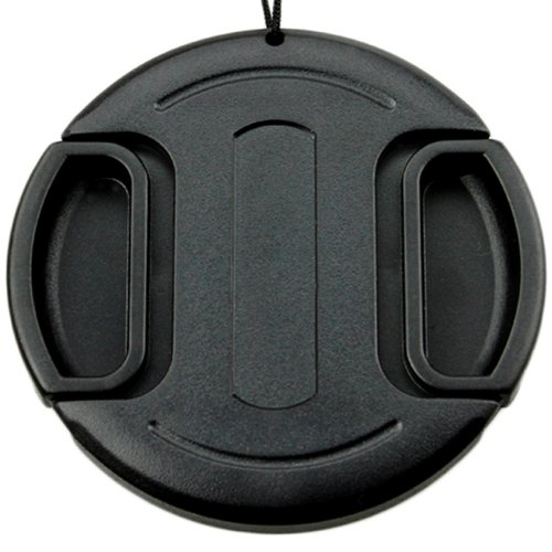 JJC 40.5 mm Snap On/Clip On Lens Cap Protection Cover with Keeper for DSLR Camera - Black from JJC