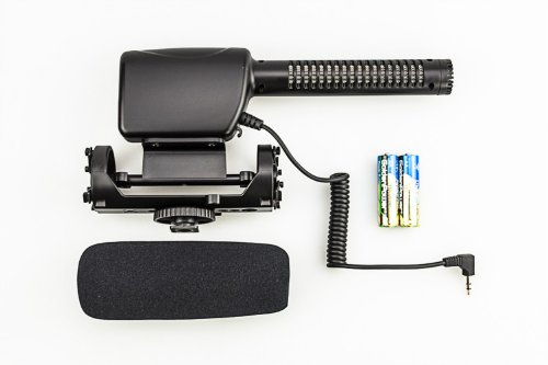 JJC MIC-3 Stereo Shotgun Microphone For all Digital SLR DSLR Cameras and camcorders+eFonto Cleaning Paper Tissue Gift from JJC
