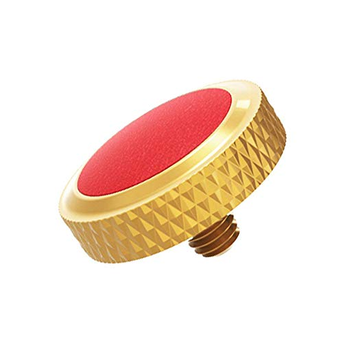 JJC SRB-DGD Red Deluxe Soft Release Button (Dark Goldenrod Plated with Red Microfiber Leather Surface) from JJC